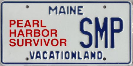 Image of the Pearl Harbor Survivor plate