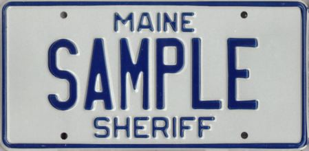 Image of the Sheriff plate