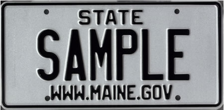 Image of the State Vehicle Plate