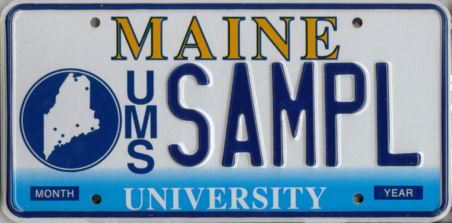 Image of the University of Maine Plate