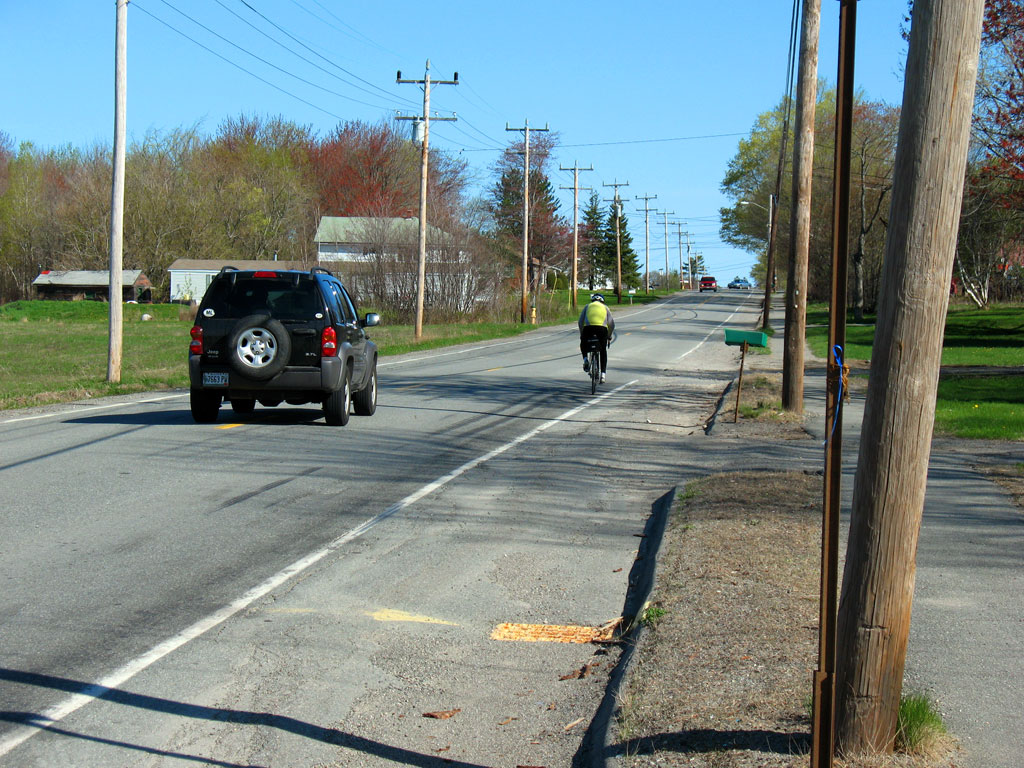 Bicyclist on Country Rd
