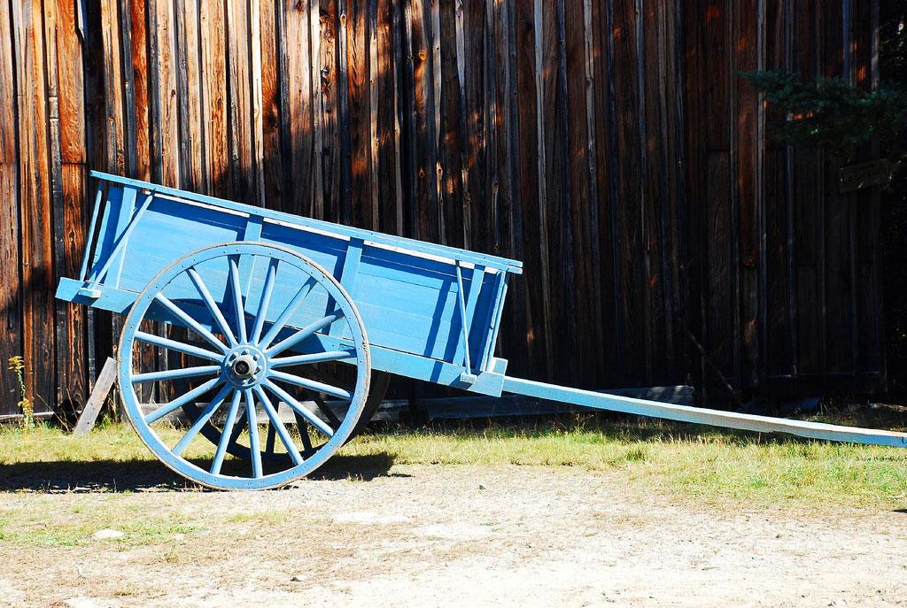 Old Barn & Wagon-Leonard's Mills
