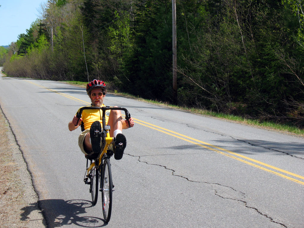 Recumbent Cyclist on Russell Rd Madison