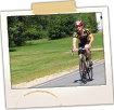 Bicyclist along Route