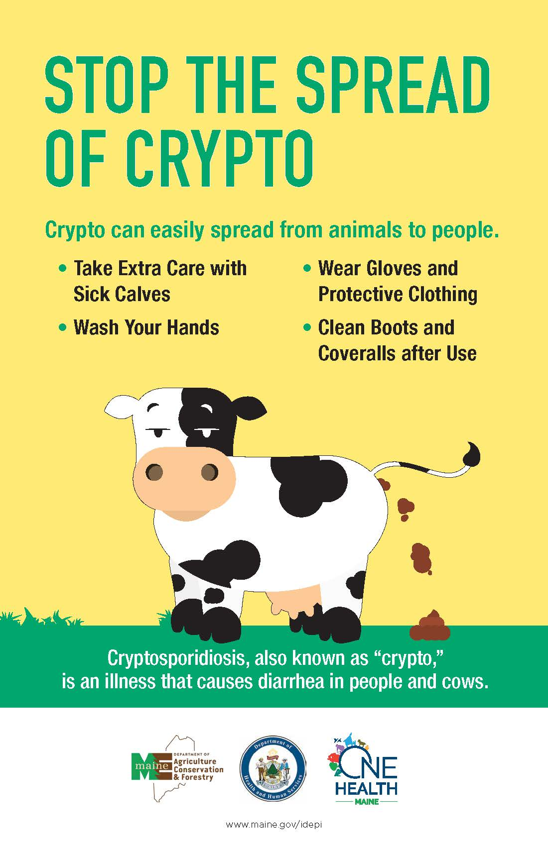 Stop the Spread of Crypto Poster - Large