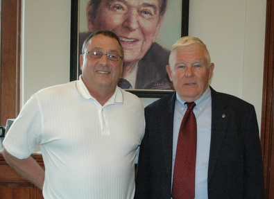Governor LePage with Lt. General Winglass