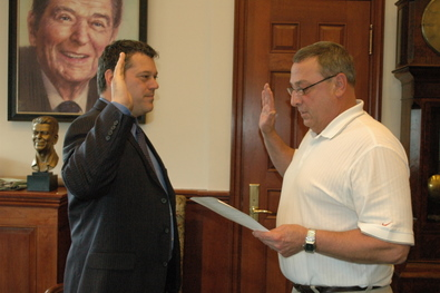 Governor LePage Administering the Oath to George Gervais