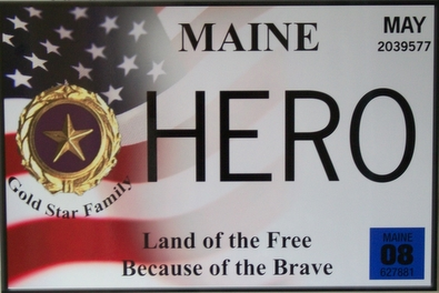 Gold Star License Plate Design