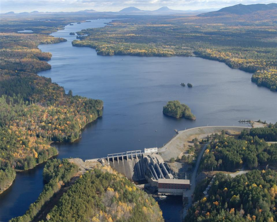 Harris Dam in Indian Township, owned by FPL Energy Maine Hydro LLC, a subsidiary of NextEra Energy Resources, is Maine's largest hydropower project (courtesy of NextEra Energy Resources).