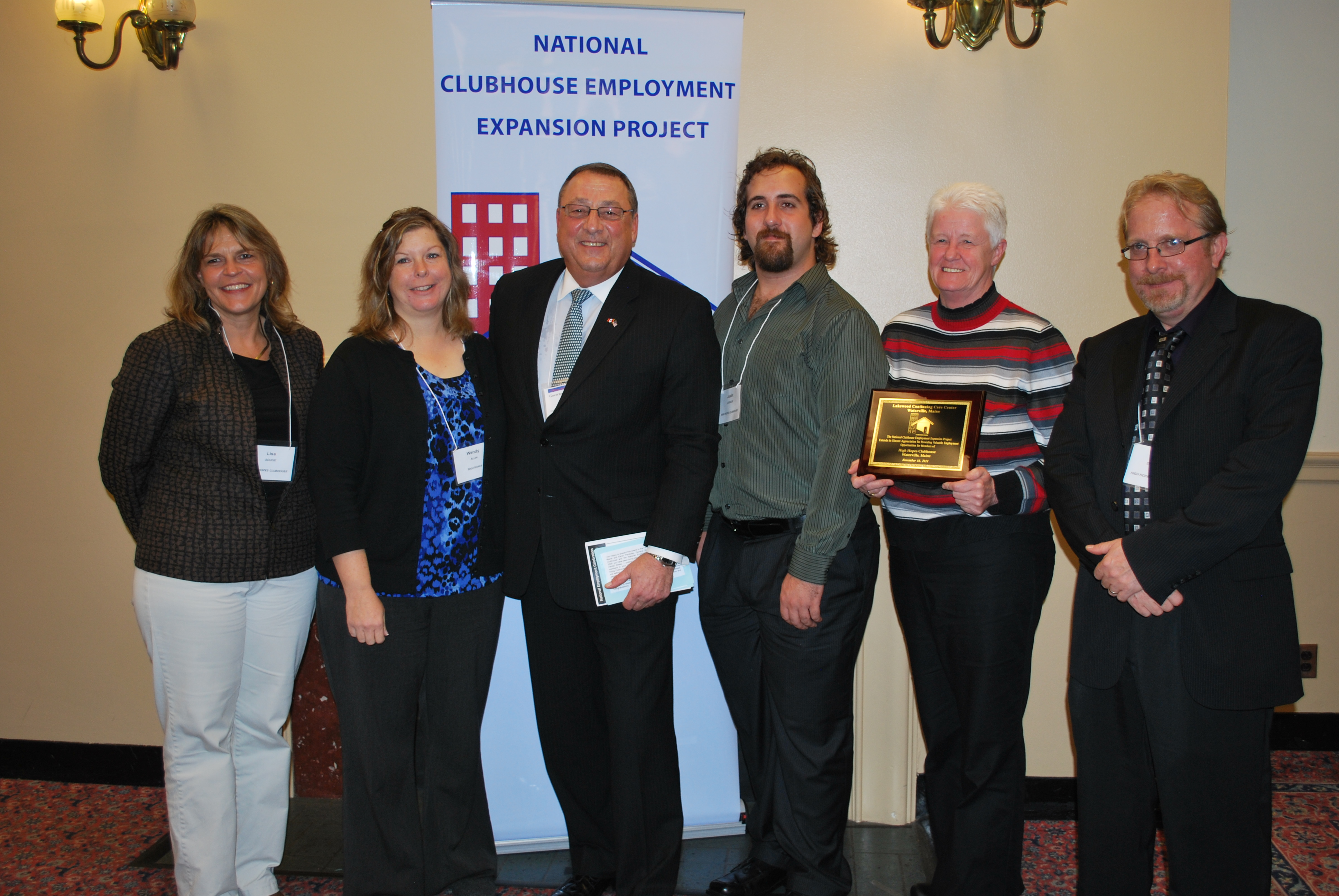 Governor LePage with High Hopes Clubhouse members and staff.