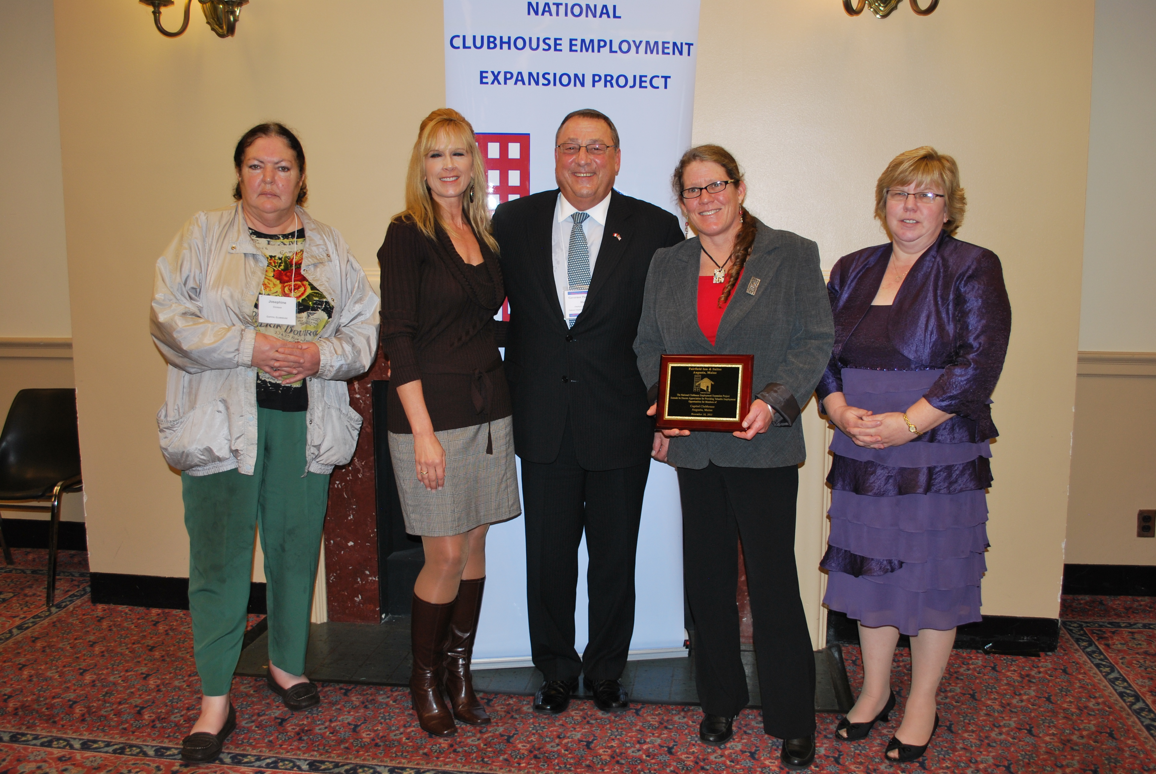 Governor LePage with Capitol Clubhouse members and staff.