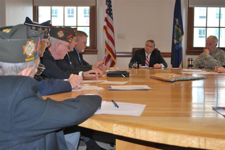 Governor Paul LePage with representatives from Maine's veteran's service organizations.