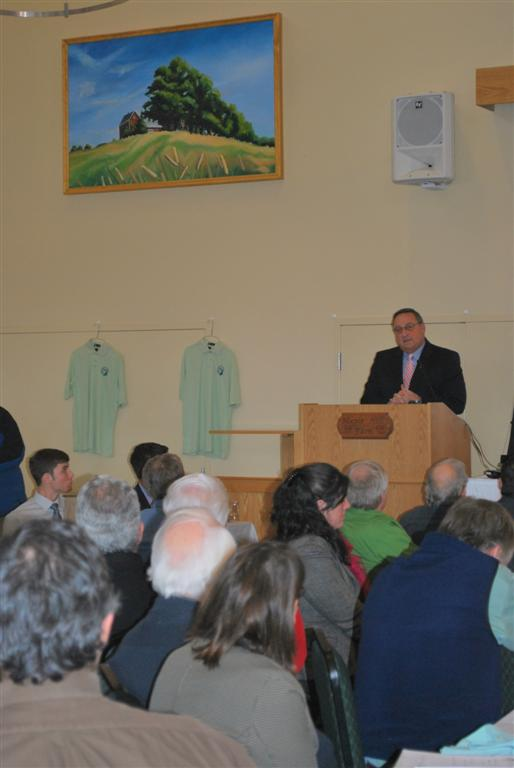 Governor LePage Addressing Maine Wood Products Association Members </p>  <p>.
