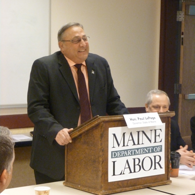 Governor Paul LePage discusses workforce policy with members of the Maine State Workforce Investment Board
