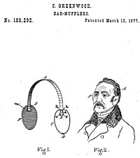 Patented for ear-mufflers, March 13, 1877