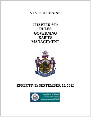 Rules Governing Rabies Management, Effective: September 22, 2012