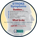 Signs of Stroke Magnet (Round)