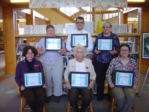 Photo of Ellsworth Librarians and their Certificates