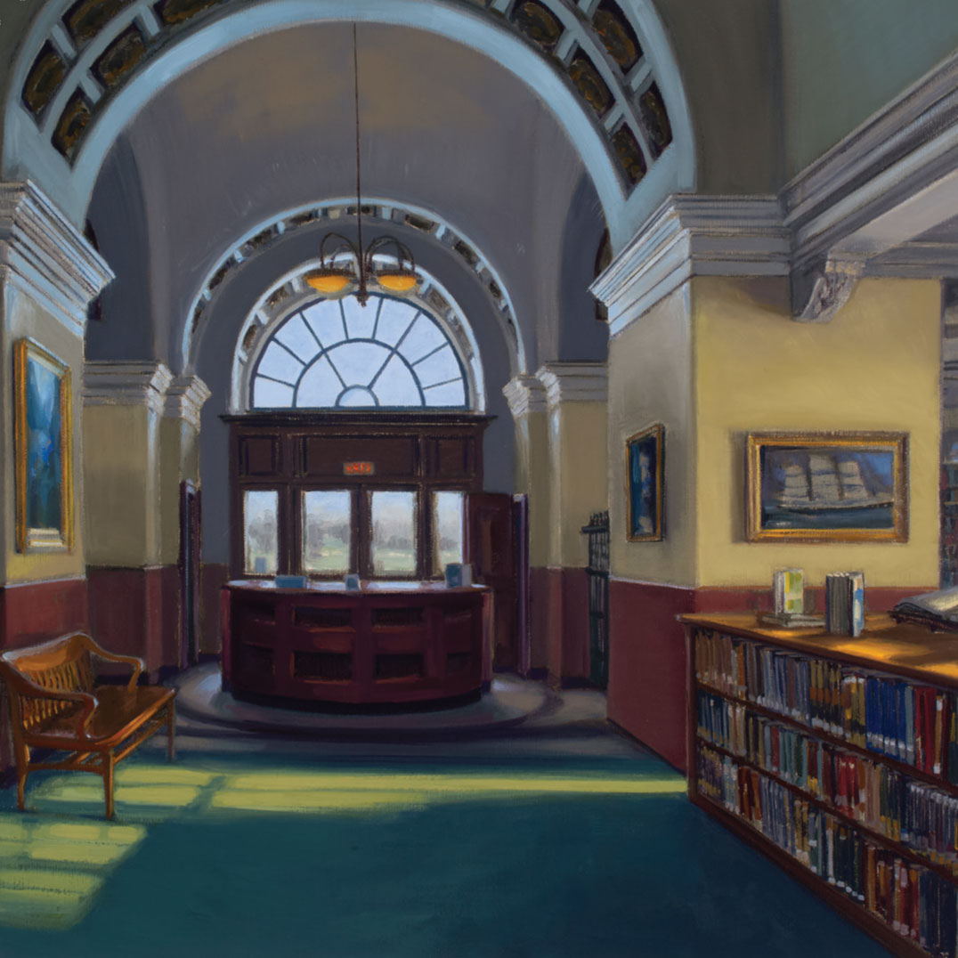 Painting of Rockland Public Library