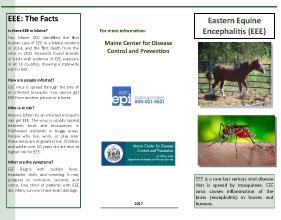 Eastern Equine Encephalitis (EEE) Brochure
