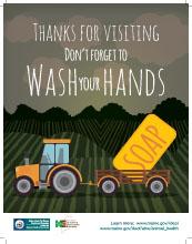 Handwashing Tractor Poster - Standard