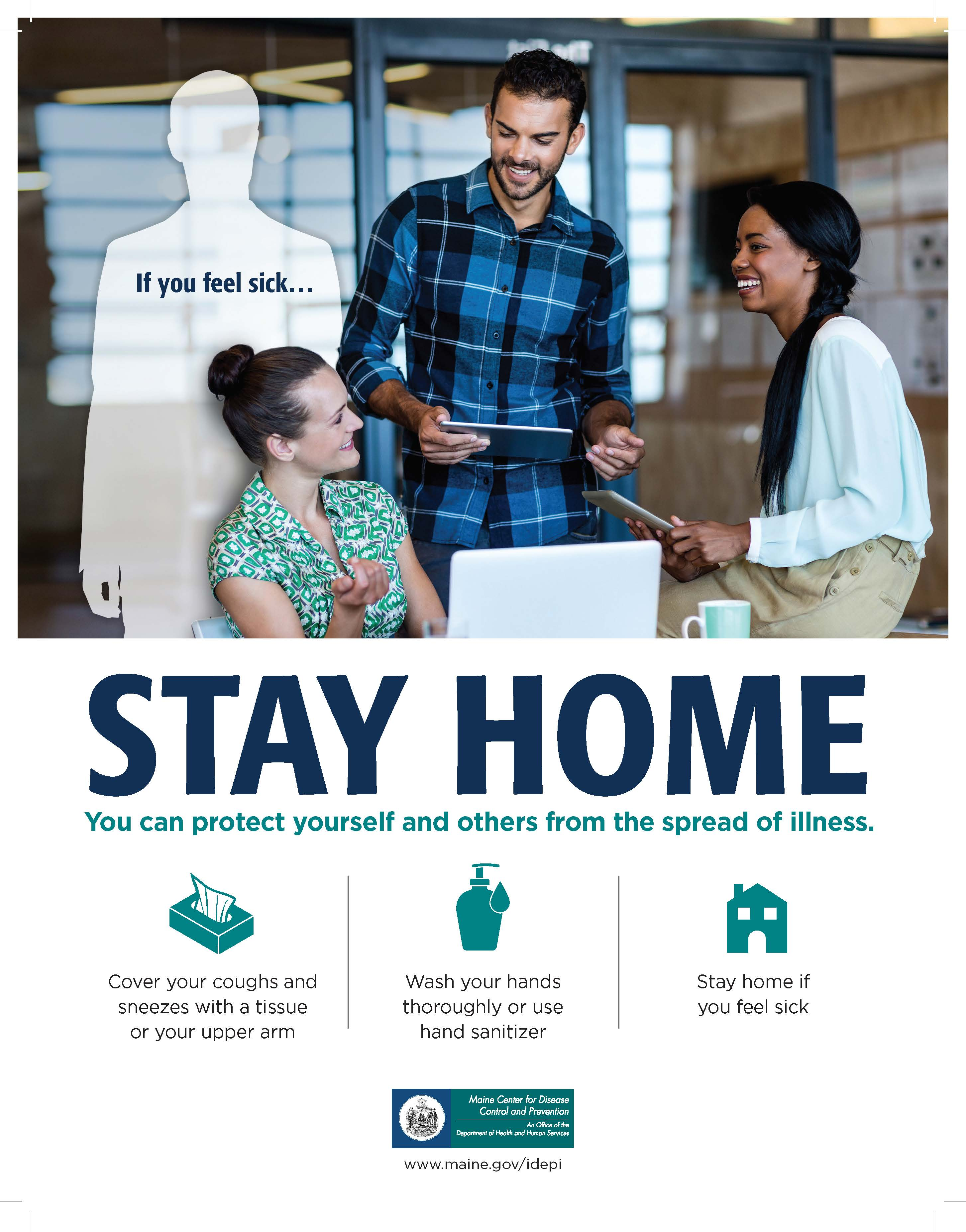 Stay Home Poster (Office)