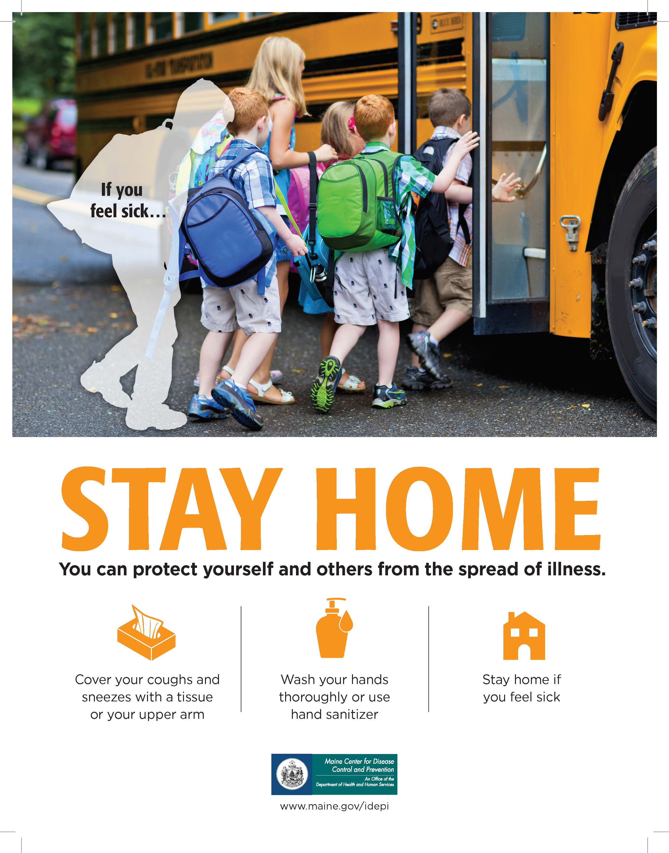 Stay Home Poster (School Bus)
