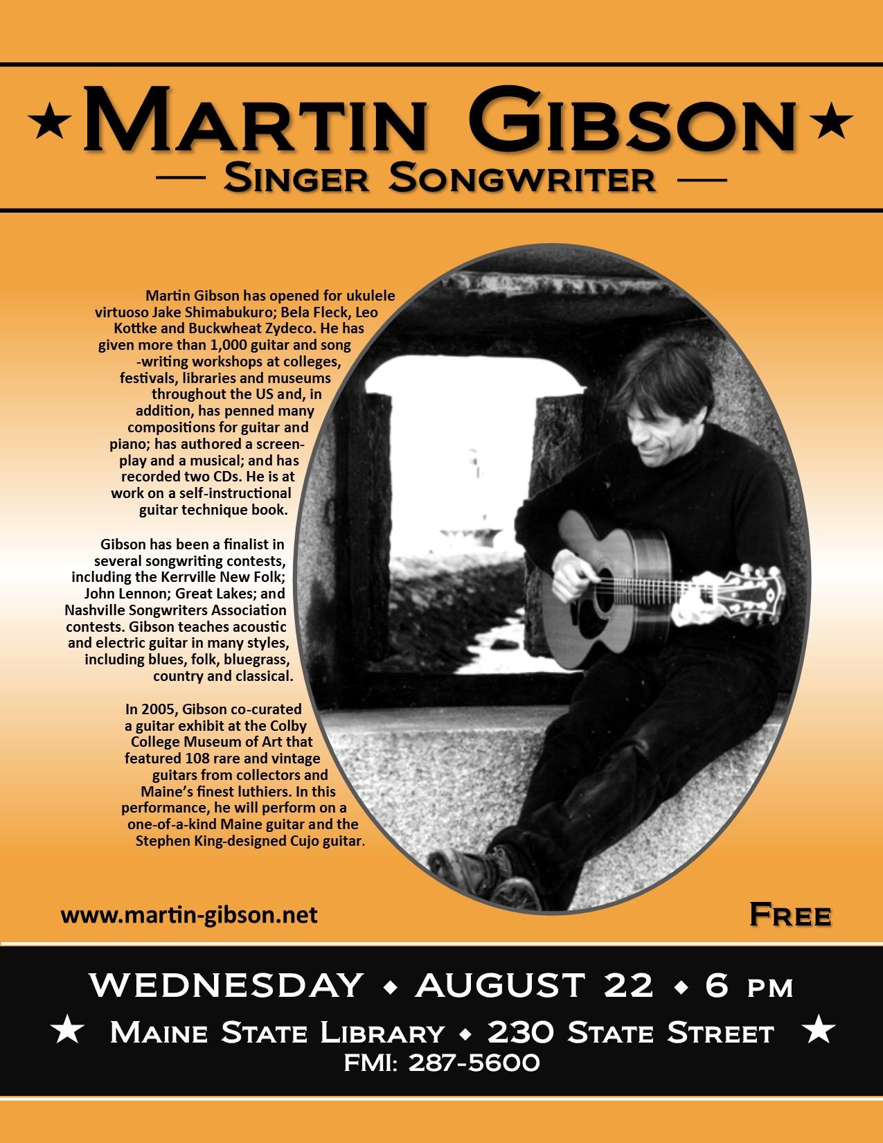 Martin Gibson - Singer Songwriter