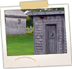 Old Outhouse at St. Agathe Historical House