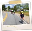 Bicyclists on Rte 187 Near Machias