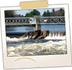 Saco River Dam from Memorial Brg in Buxton