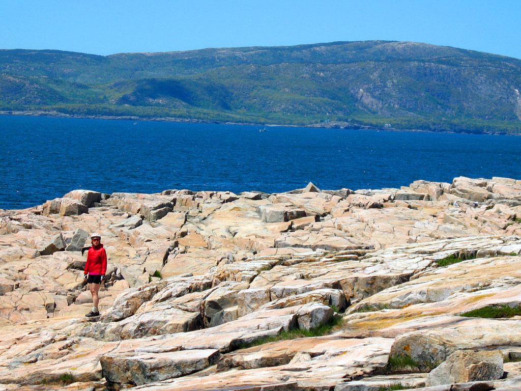 Cyclist on Rocks
