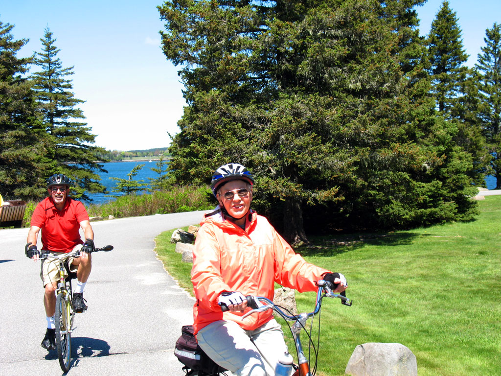 Cyclists Leaving Frazer Point