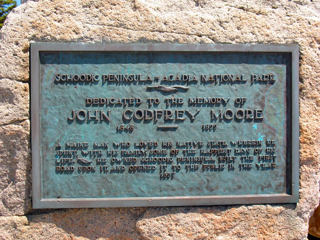 Schoodic Point Historical Plaque