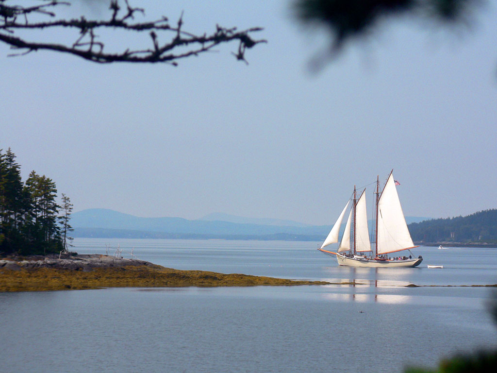 Sailboat off of Little Deer Isle