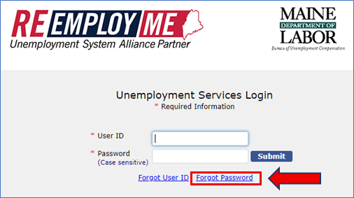 This is a graphic showing the ReEmployME login page.